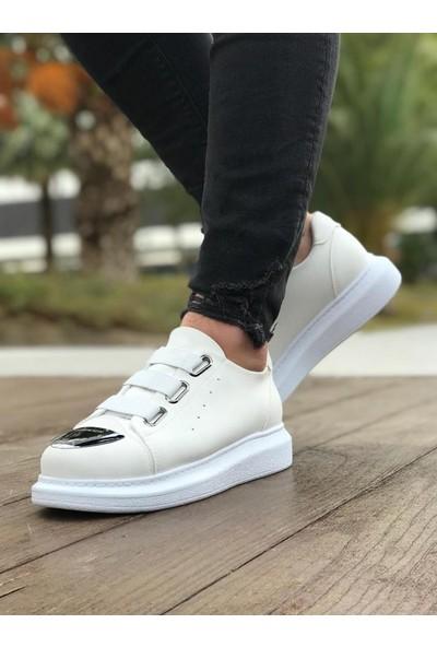 Chekich CH251 Süet Beyaz Taban Erkek Ayakkabı Beyaz