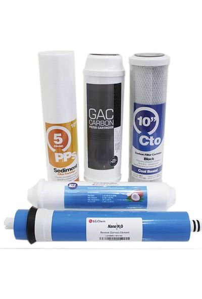 Ecoplus Su Arıtma Cihazı 5'li Filtre Seti