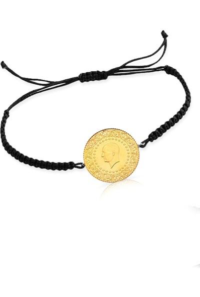Cigold İpli Çeyrek Altın Bileklik IPK7845121