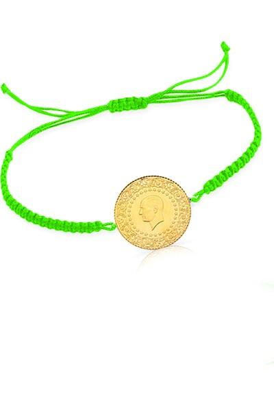 Cigold İpli Çeyrek Altın Bileklik IPK7845125