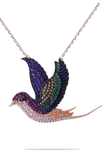 Cigold Kuş Gümüş Kolye KNG0825000741