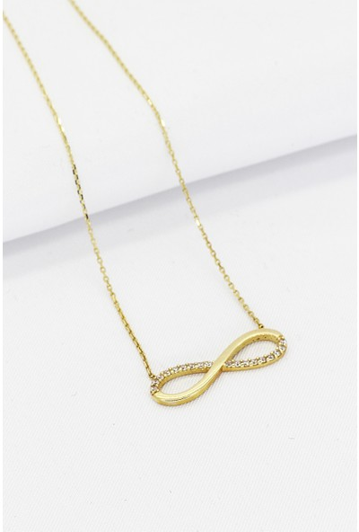 Cigold 14 Ayar Altın Sonsuzluk Kolye K1KLY0169001405