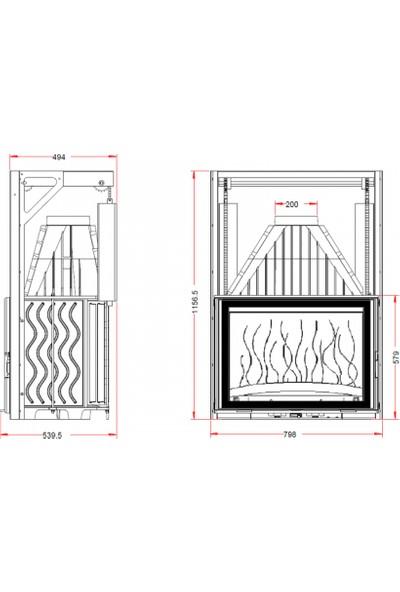 Invicta, 800 Grande Angle, Asansörlü İthal Şömi̇ne Haznesi̇ 6886-43