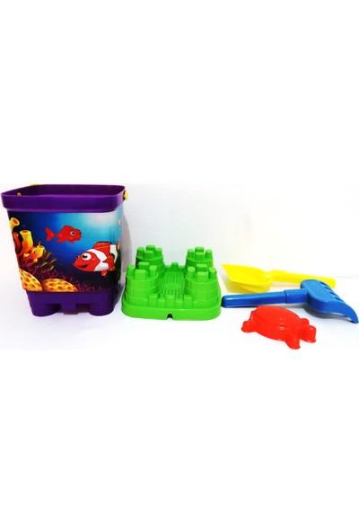 Best Toys Kum Kovasi Oyuncakli Desenli̇ 4 Parça Yeşil-Mor