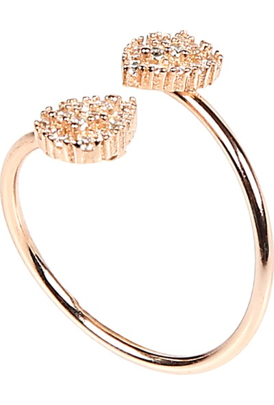 Serpil Jewellery Zirkon Taşlı Damla Gümüş Yüzük