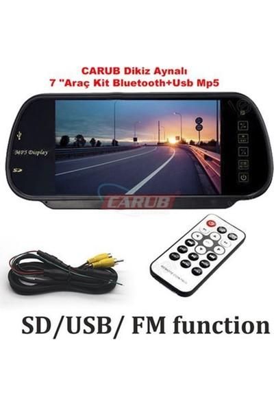 "Nettedarikcisi Oto Dikiz Aynalı 7 ""Araç Kit Bluetooth+Usb Mp5"