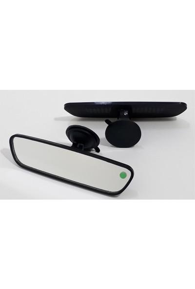 Motaysan İç Dikiz Aynası Vantuzlu Pırlanta Düz Siyah 21X6Cm