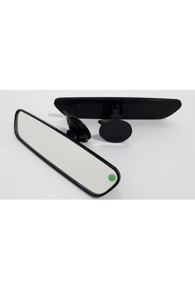 Motaysan İç Dikiz Aynası Vantuzlu Pırlanta Düz Siyah 25X6Cm