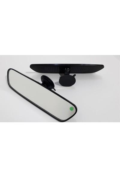 Motaysan İç Dikiz Aynası Vantuzlu Pırlanta Düz Siyah 27X7Cm
