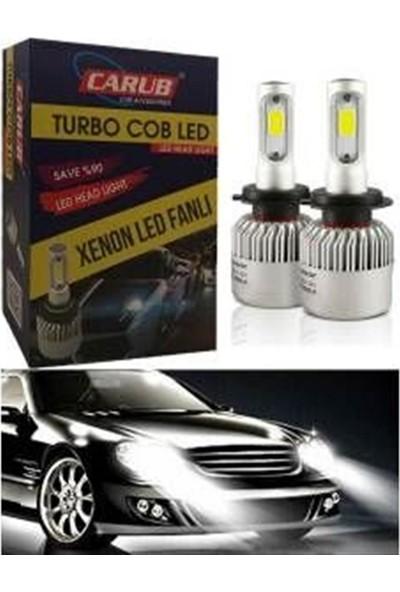 Carub Xenon Set Turbo Cob Led 12V Fanlı H4 Metal