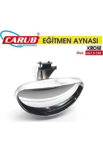 Carub Dıs Dikiz İlave Ayna Sürücü Kursu Egitmen Aynası Krom 14X7.5
