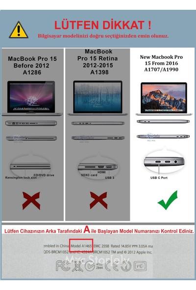 Macstorey Apple Yeni MacBook Pro A1707 A1990 15 inç 15.4 inç Kılıf Kapak Kılıf Hard Case Mat+ Usb-c Hub Kutulu 918