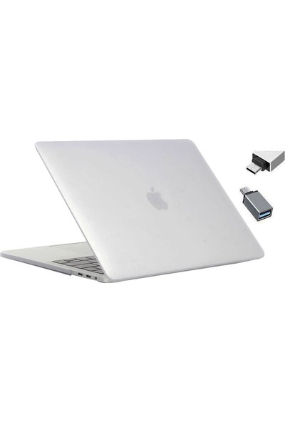 Macstorey Apple Yeni MacBook Pro A1707 A1990 15 inç 15.4 inç Kılıf Kapak Kılıf Hard Case Mat+ Usb-c Hub Kutulu 927