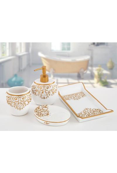 İrya Flossy Beyaz 4 Parça Banyo Seti