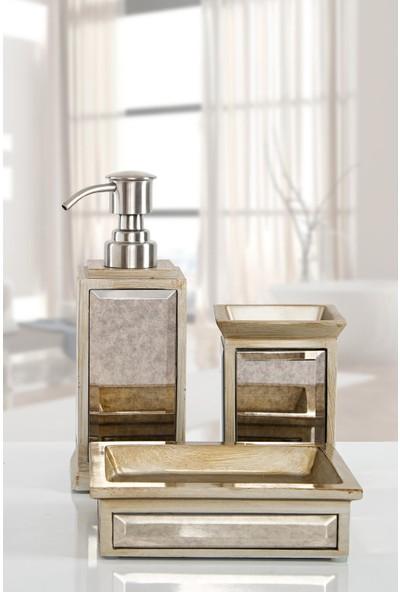İrya Mirror Bronz 3 Parça Banyo Seti