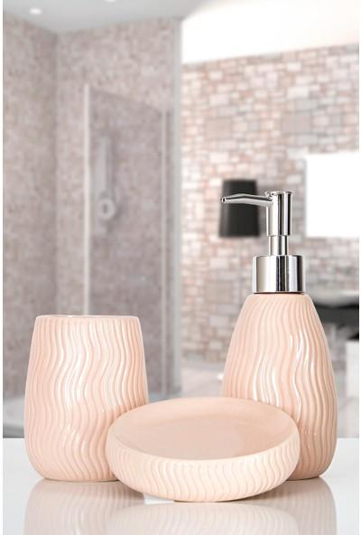 İrya Home More 3 Parça Banyo Seti Merlın Pembe