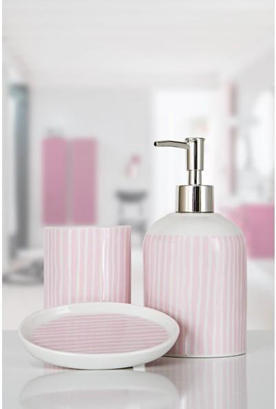 İrya Home More 3 Parça Banyo Seti Lılı Pembe