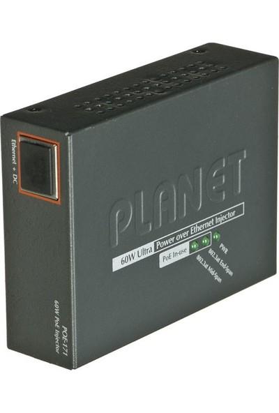 Planet POE-171 Tek Portlu 10/100/1000 Mbps Ultra Poe Injector