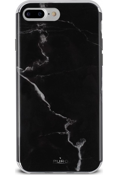 Puro Marble Cover Apple iPhone 7/8 Marquina Black