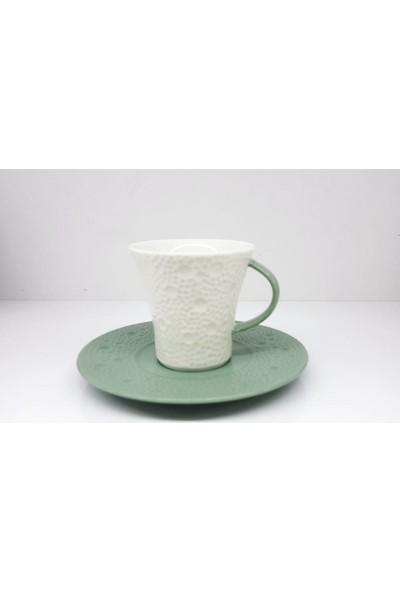 Güral Porselen Kahve Takımı Yeşil NBNMN12KT99400