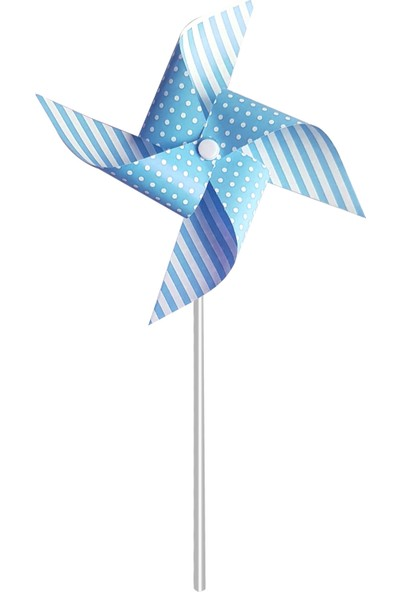 Roll-up Mavi Rüzgar Gülü 20 x 20 cm 3lü Set