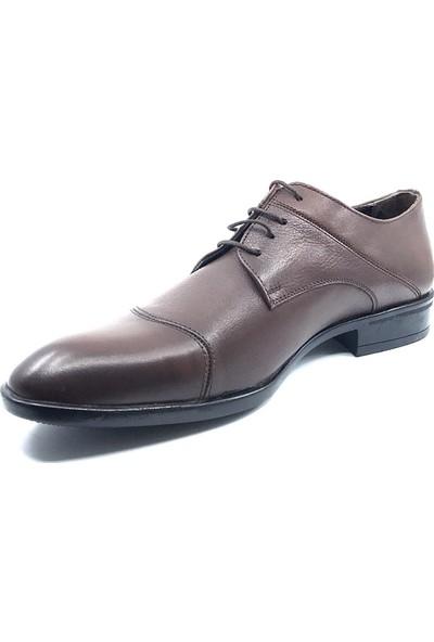 Teğmen Antik Kahve İpli Erkek Deri Ayakkabısı