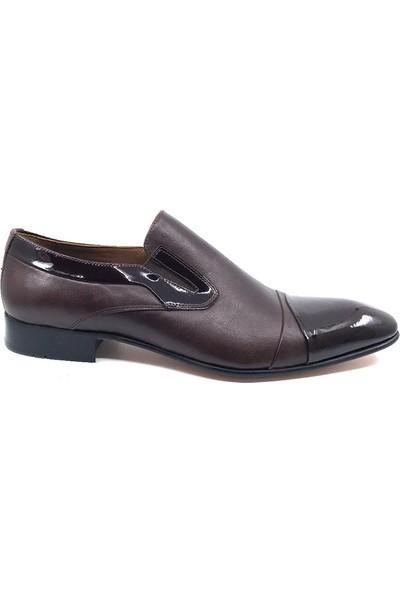 Fastyle 2254 Kahve Kösele Taban Erkek Deri Ayakkabısı