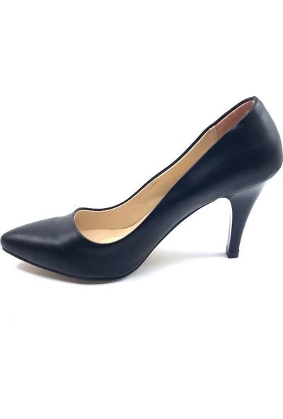 Ceylan Mat Siyah Stiletto Kadın Ayakkabısı