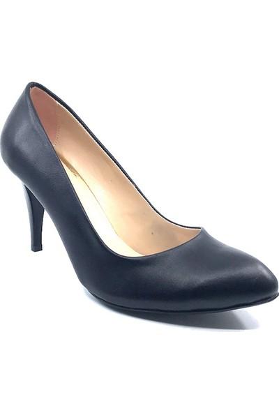 Yemen Siyah Mat Topuklu Kadın Ayakkabısı