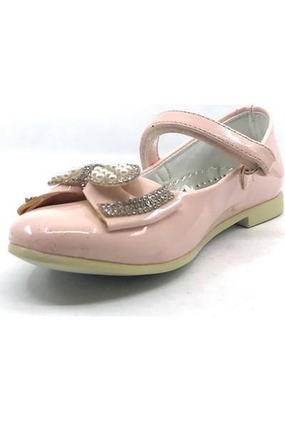 Sema Günlük Abiye Cırtlı Kemerli Tokalı Kız Çocuk Babet Ayakkabı