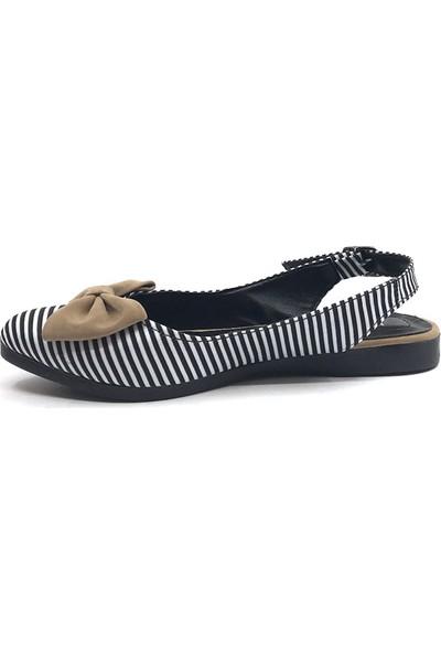 Keçeli S15 Vizon Viyonklu Günlük Kadın Babet Ayakkabı