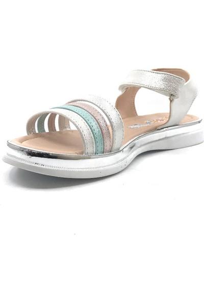 Vetta Beyaz Renkli Kız Çocuk Sandalet