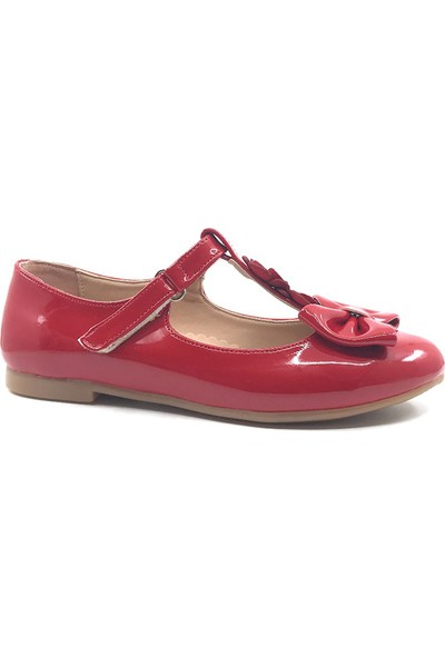 Vetta Kırmızı Günlük Fiyonklu Kız Çocuk Babet Ayakkabı