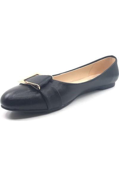 Ceylan 6004 Siyah Şanel Günlük Kadın Babet Ayakkabı