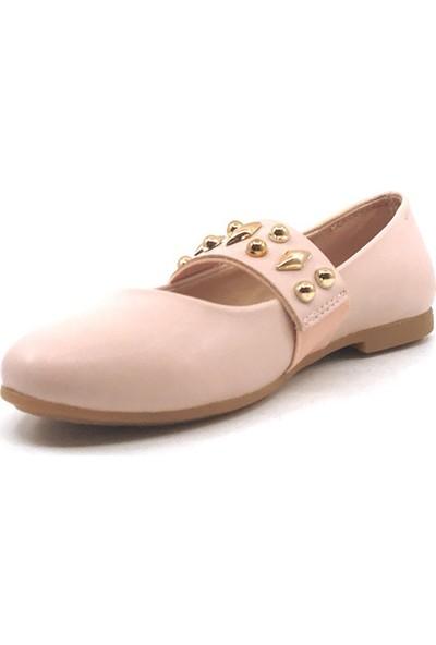 Vetta Pembe Günlük Taşlı Kız Çocuk Babet Ayakkabı
