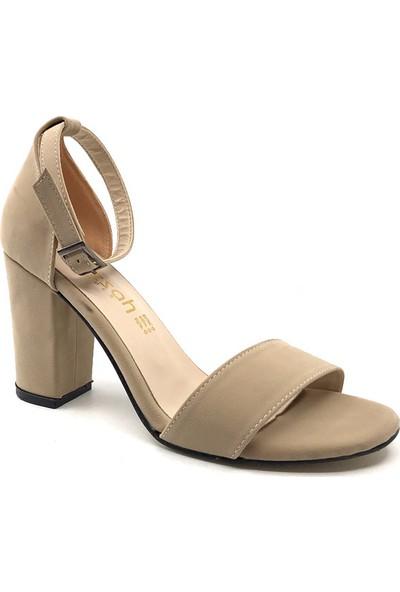 Gizsah Tentekbant Süet Yüksek Topuklu Kadın Ayakkabı
