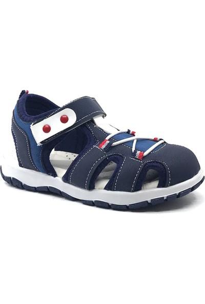 Sema Kids Lacivert Günlük Erkek Çocuk Cırtlı Önü Kapalı Sandalet