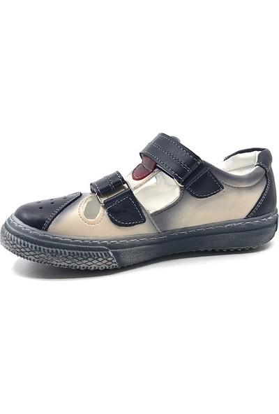 Aydındaş Lacivert-Beyaz Günlük Erkek Çocuk Cırtlı Önü Kapalı Sandalet