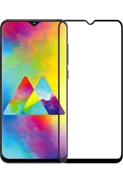 Microcase Samsung Galaxy M20 Tam Kaplayan Çerçeveli Tempered Ekran Koruyucu - Siyah