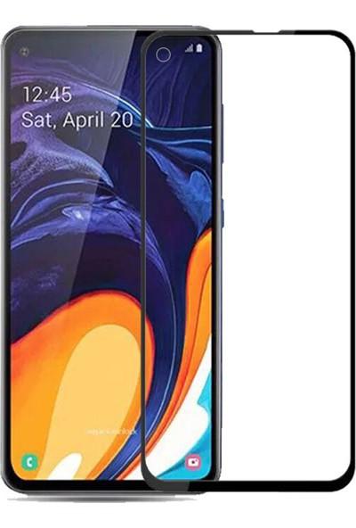Microcase Samsung Galaxy A60 Tam Kaplayan Çerçeveli Tempered Ekran Koruyucu - Siyah