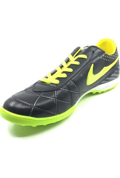 Dugana Siyah Neon Yeşil Erkek Halısaha Ayakkabısı