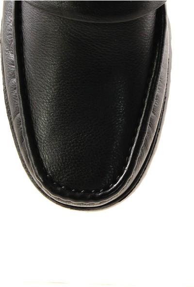 Forelli 32627 Erkek Siyah Deri Rok Ayakkabı