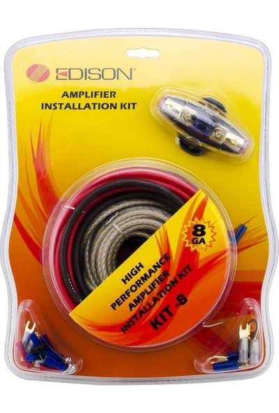 Edison Kit-8ga Kali̇teli̇ Anfi Motaj Kablo Seti̇