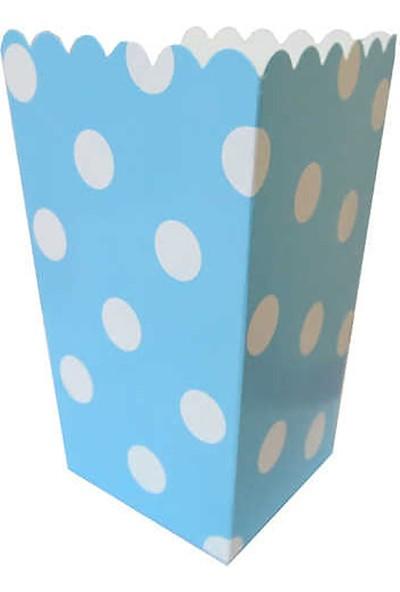 Kullan At Market Mısır Cips Kutusu Puantiyeli Mavi Pakette 10 Adet