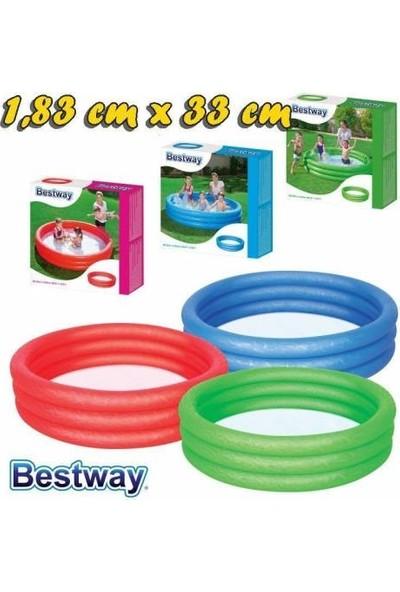 Bestway 51027 3 Halkalı Renkli Havuz 183 x 33 cm