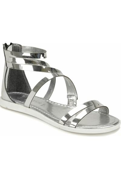 Miss F Ds18067 Gümüş Kadın Dress Ayakkabı