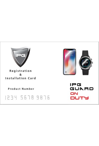 IPG Garmin Forerunner 45S (39 mm) Watch Ekran Koruyucu (2 Adet)
