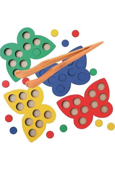 Piramigo Ahşap Mozaik Oyunu Kelebekler - Strateji ve Mantık Oyunu