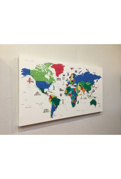 Mapofx Renkli Kanvas Harita