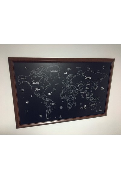 Mapofx El Çizimi Pinlebilir Dünya Haritası
